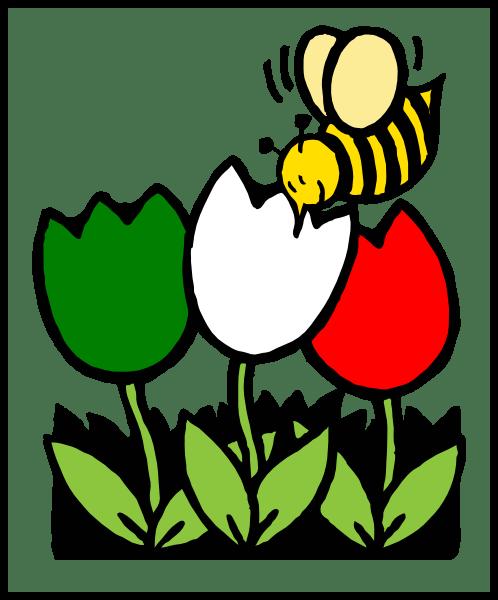 italian flowers bee clip art