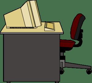 computer desk clip art