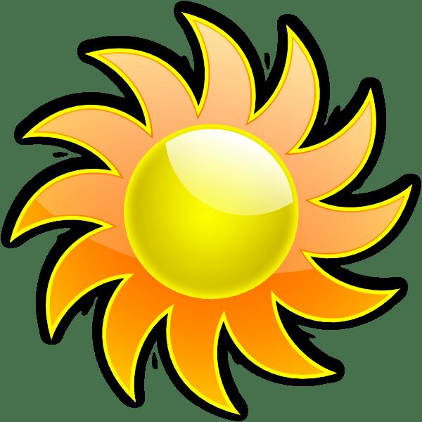 sun 3 clip art - vector