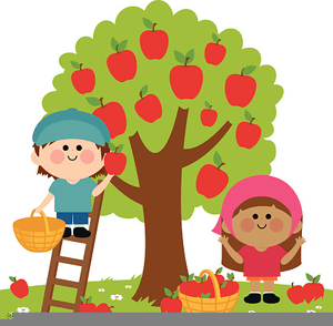 free apple picking clipart