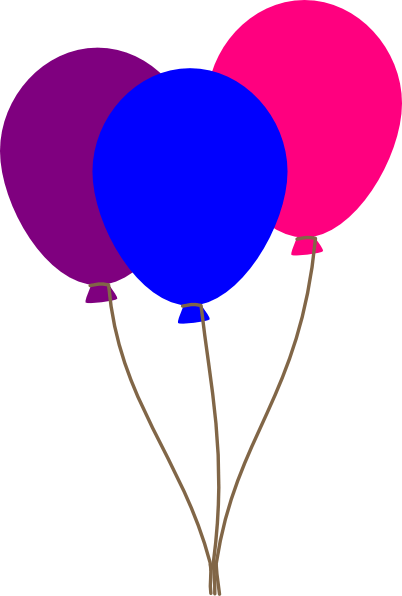 colourful balloons clip art