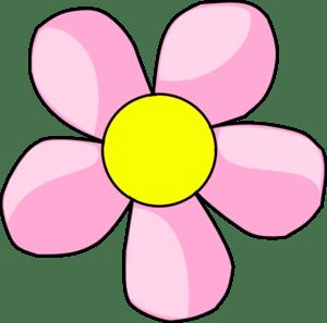 pink flower 10 clip