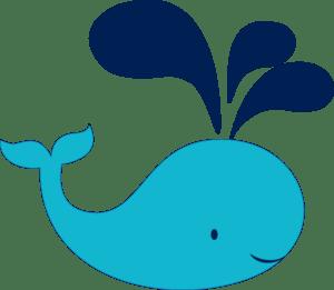 teal navy whale clip art