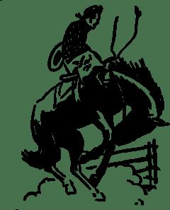 Cowboy At Rodeo clip art