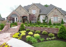Luxury And Classic House Landscaping Ideas Free