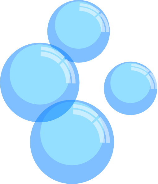 Bubble Moving Background Blue
