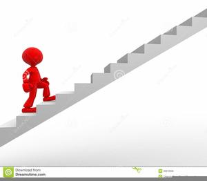 man climbing steps clipart
