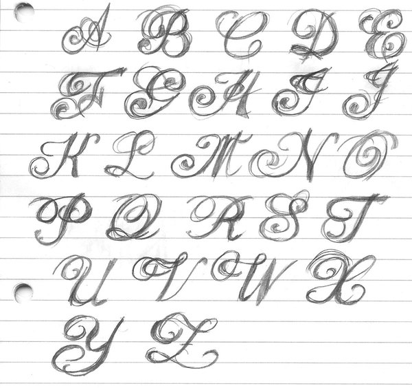 Fancy Fonts Alphabet Letters