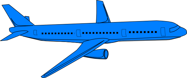 Blue And Cartoon Airplane Red