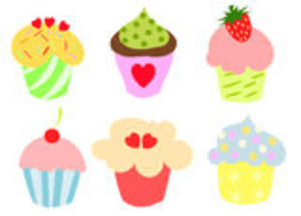 colorful cute cupcakes free