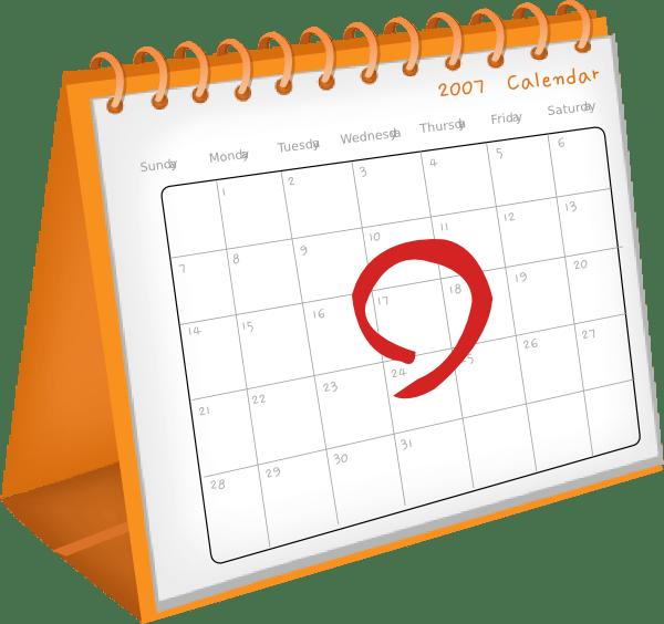 calendar date clip art