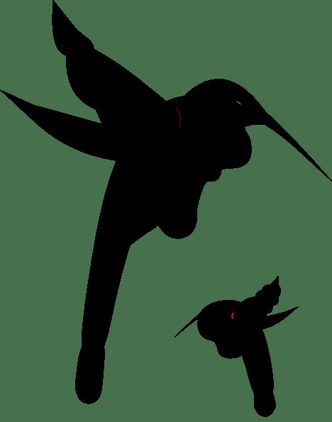 black hummingbird silhouette clip