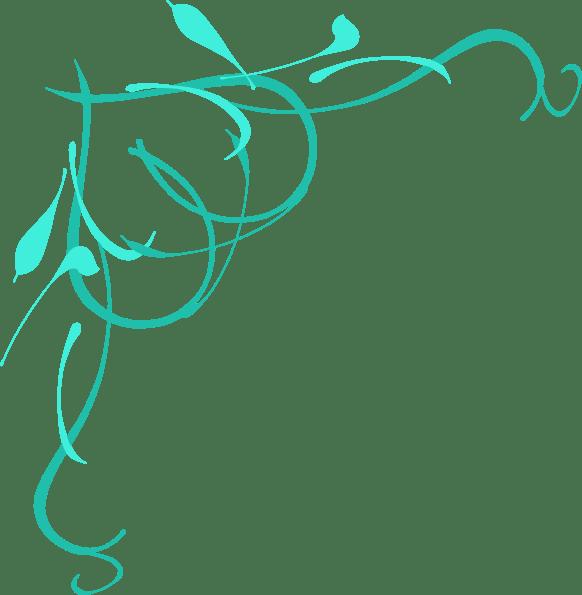 teal heart vine clip art