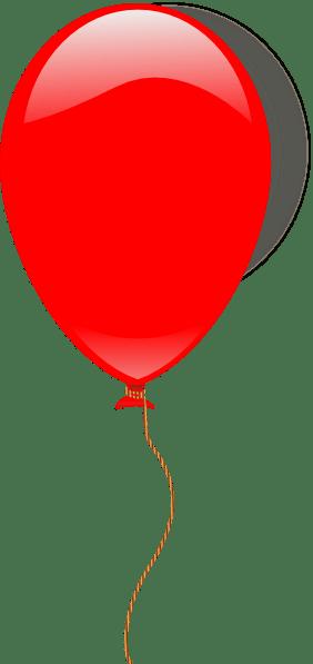 red ballon clip art