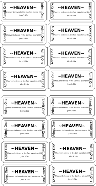 Admit One To Heaven Clip Art At Clker Com Vector Clip