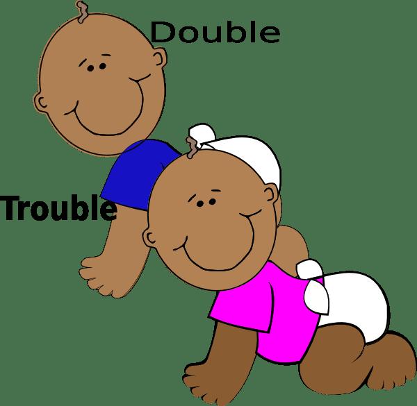 double trouble clip art