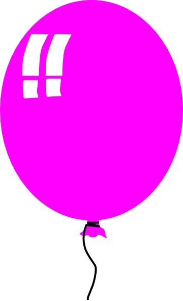 single pink balloon free