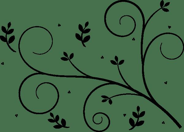 reverse floral design clip art
