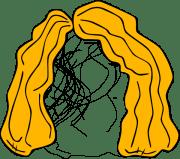 blond hair wig clip art