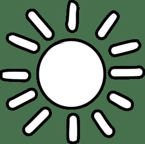 sun outline clip art