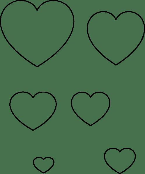 seodehacro: heart outline stencil