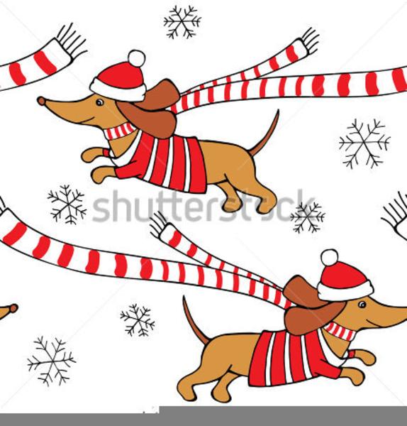 christmas dachshund clipart free