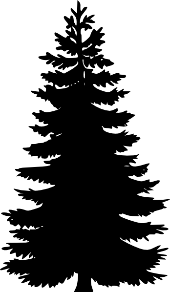 Pine Tree Wire Frame Clip Art at Clkercom  vector clip art online royalty free  public domain
