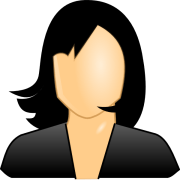 black hair lady clip art