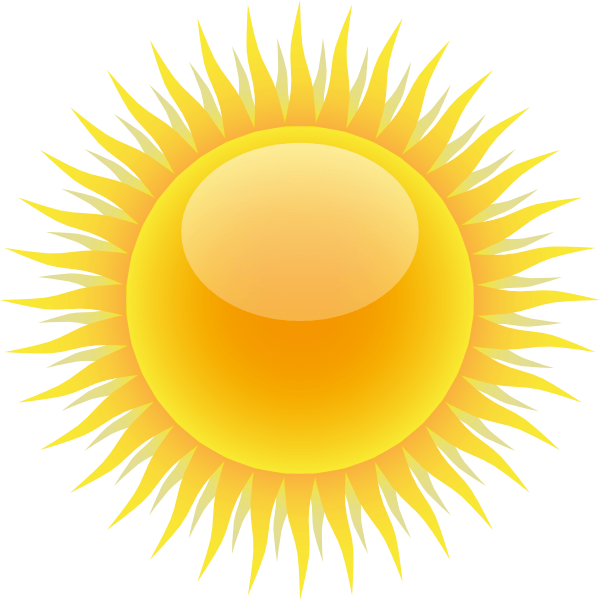 sun clip art - vector