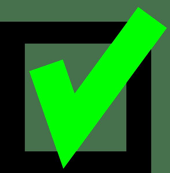 green check clip art