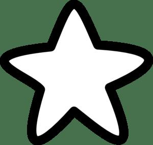 white star clip art