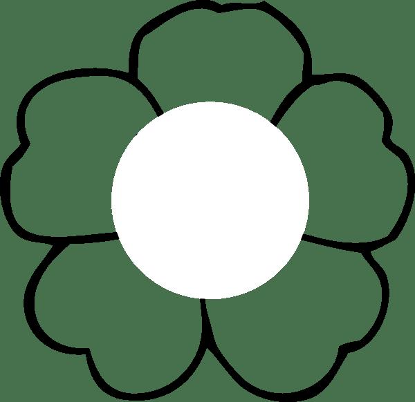flower outline center clip art