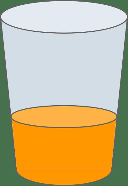orange juice in glass clip art