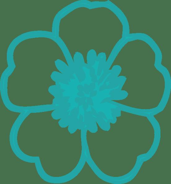 buttercup teal clip art