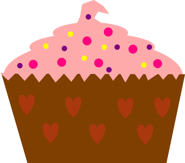 pink cupcake with sprinkles clip