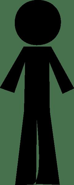 Person Stick Black Clip Art at Clkercom  vector clip art
