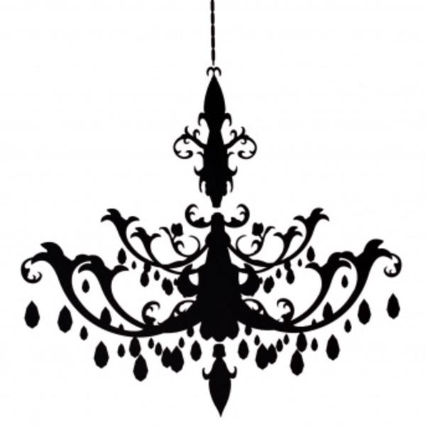 Black Chandelier Clip Art