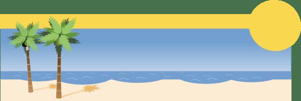 Sunny Tropical Beach Clip Art at Clkercom  vector clip art online royalty free  public domain