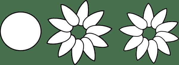 Six Petal Flower Template