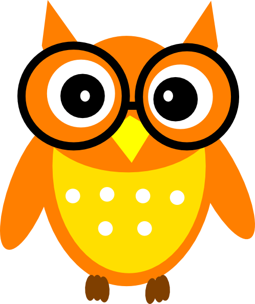 owl clip art - vector