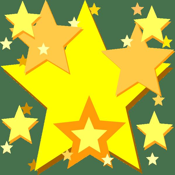 yellow stars clip art