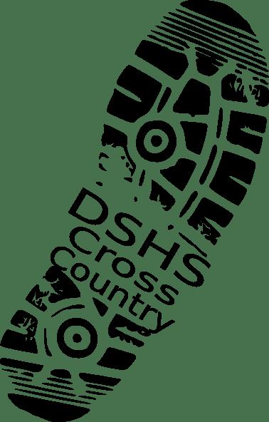 shoe print cross country clip art