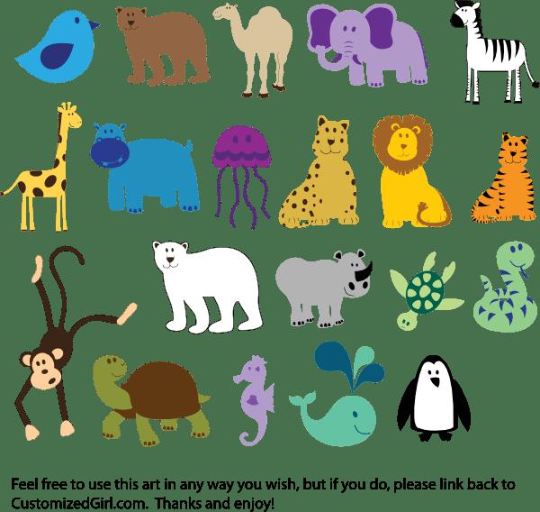 cute animals clip art