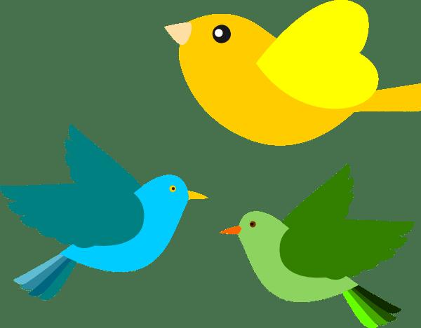 birds clip art - vector