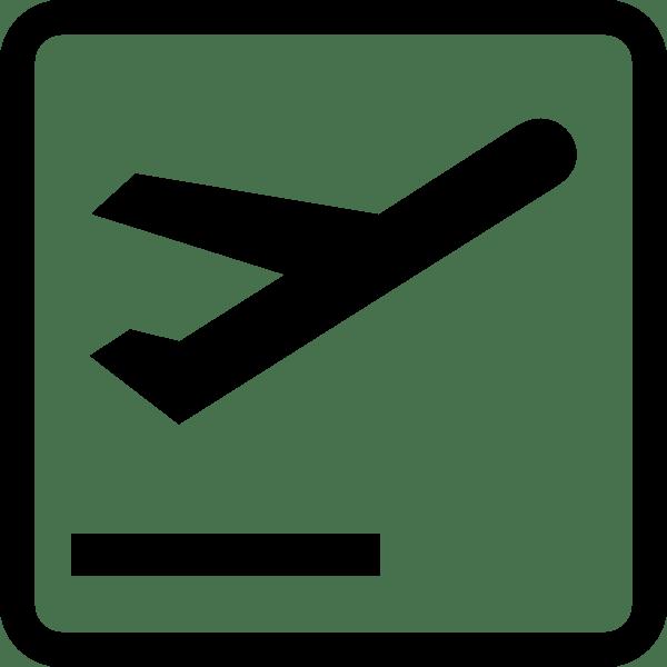 departures airport sign clip