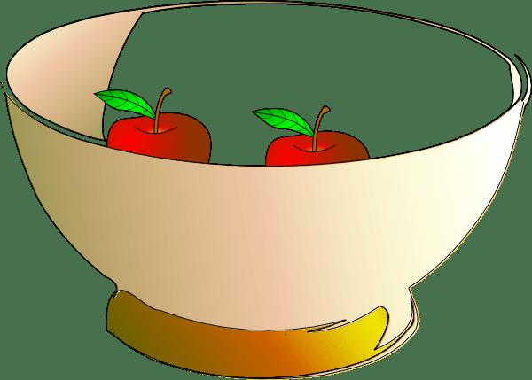 bowl 2 apples clip art