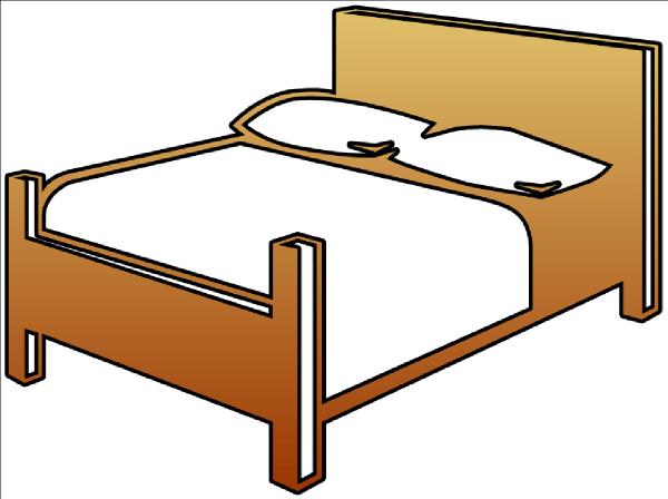 bed cutout clip art