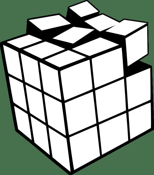 rubiks cube 3d clip