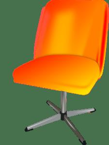 Orange Swivel Chair