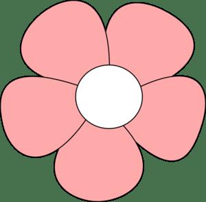 simple flower pink clip art